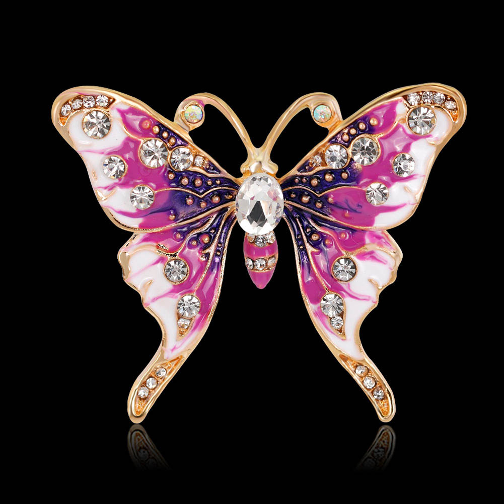 Vintage butterfly brooch pin, made in