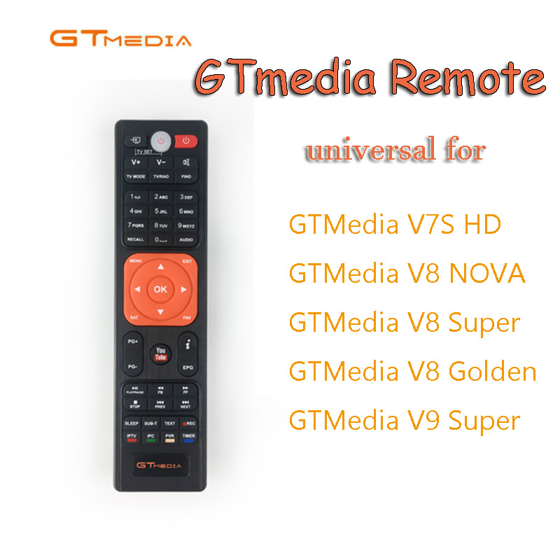 Hot Freesat Update Gtmedia V8 Nova Remote Control, Satellite Tv Receiver's Remote Control For Gtmedia V8 Nova Freesat V8 Super