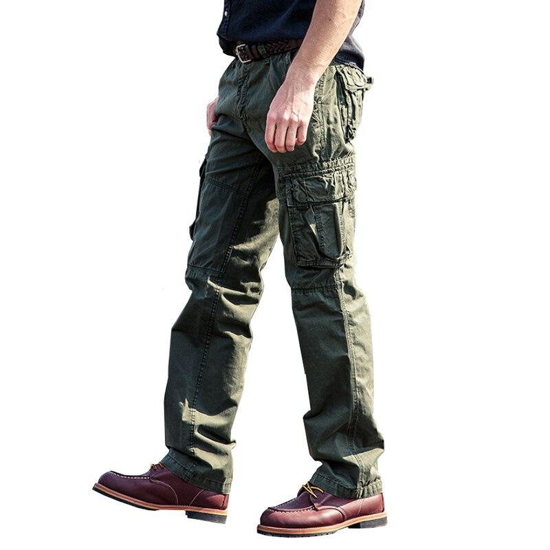 Caccia Tattico Pantaloni Mens Swat Army Military Style Allentato Pant Commando Cargo In Cotone Nero Tactical Gear Combattimento Pantaloni Maschili Con Una Reputazione Da Lungo Tempo