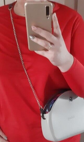 TANQU Nieuwe kleurrijke lange schoudertasketting met kunstleren riemclipsluiting voor OPocket Obag O-tas photo review