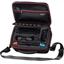 Nintend için Taşıma çantası N500 Smatree Anahtarı konsol, rıhtım, Sevinç-Con kavrama, HDMI kablosu, AC adaptör, iki Sevinç-Con kayış