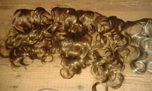 Extensões de cabelo sintéticas Extensão Cabelo Polegada