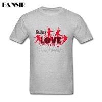 Men Tshirts Awesome Short Sleeve Cotton Custom T Shirts Men Man S Beatles Love Logo Guys