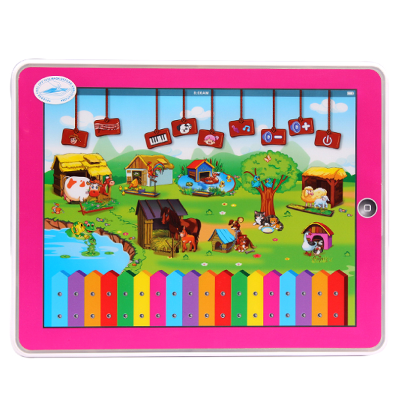 Early Childhood with Music Learning Machine;English Language Childrens Tablet Computer For Kinds Happy Farm Educational Toys