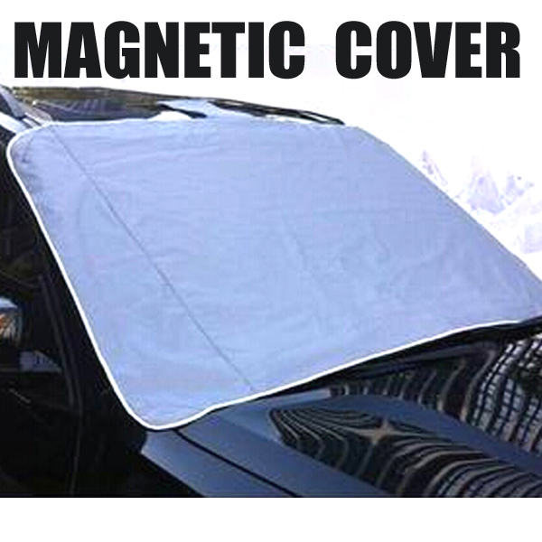 Car Ice Covers Windshield