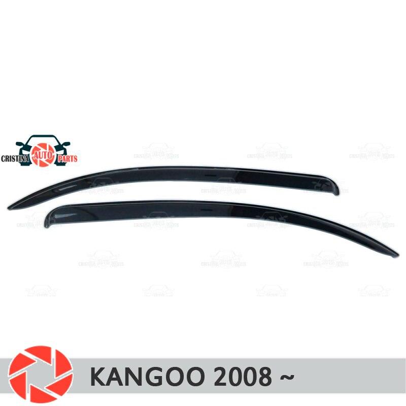 Window deflector for Renault Kangoo 2008- rain deflector dirt protection car styling decoration accessories