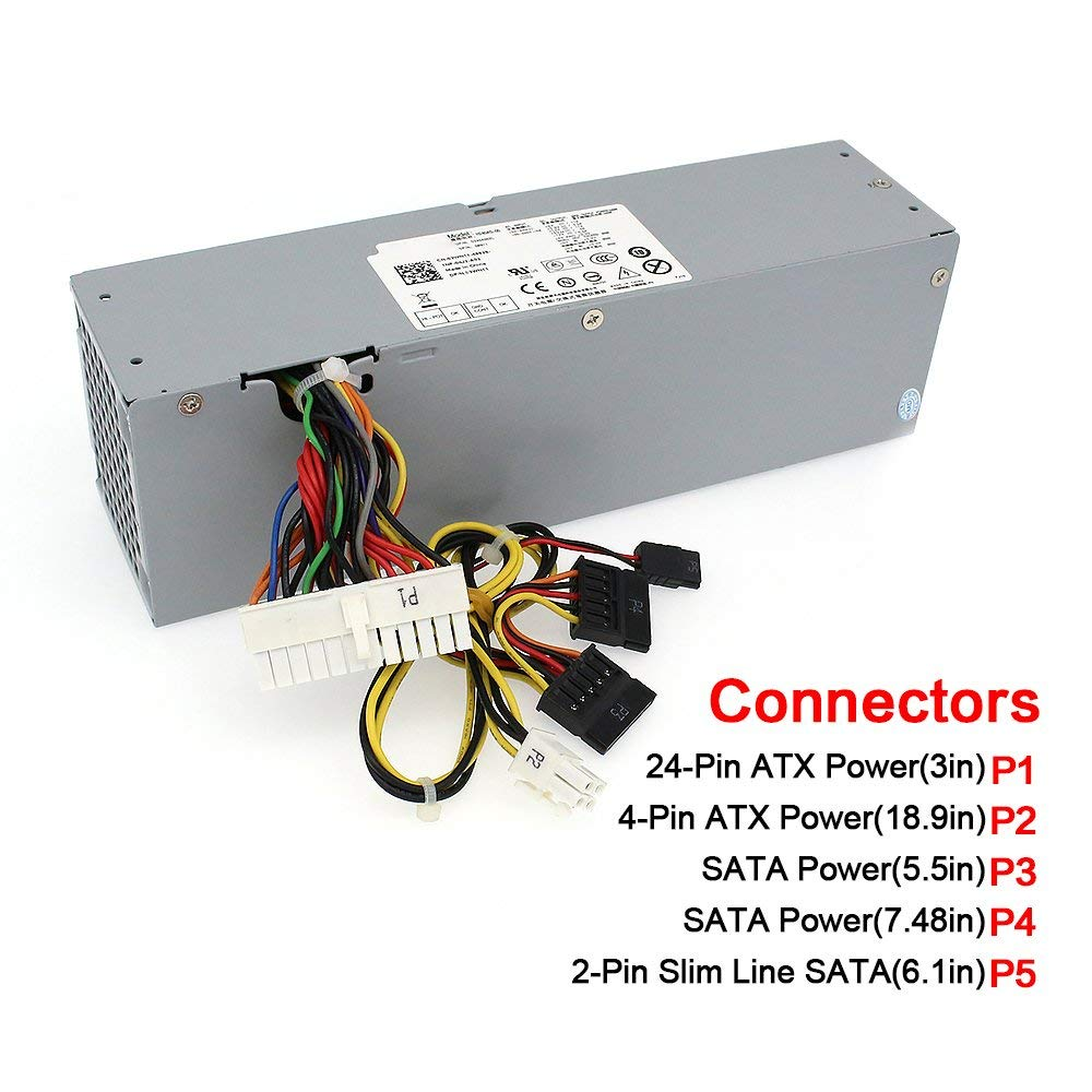 240W Power Supply Unit PSU for Dell OptiPlex 390 790 960 990 3010 9010 Small Form Factor System SFF H240AS 00 H240ES 00 D240ES 0-in Printer Parts from Computer & Office    2