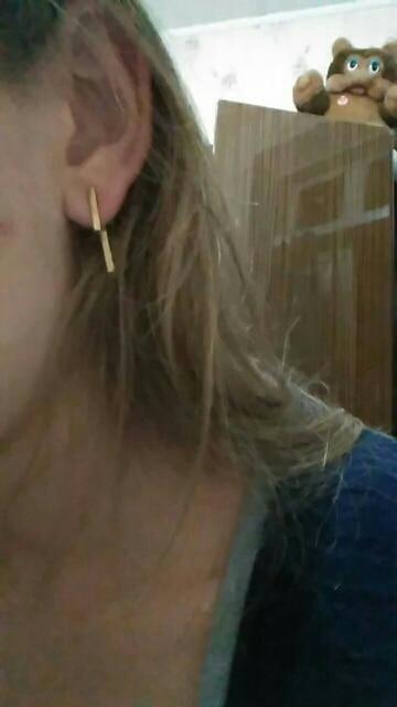 Punk Style Minimalist T Bar Stud Earrings*