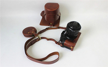High-grade Retro Vintage PU Leather Camera Case Bag For Fuji Fujifilm XT2 X-T2 16-50/18-55MM With Bottom Battery Opening