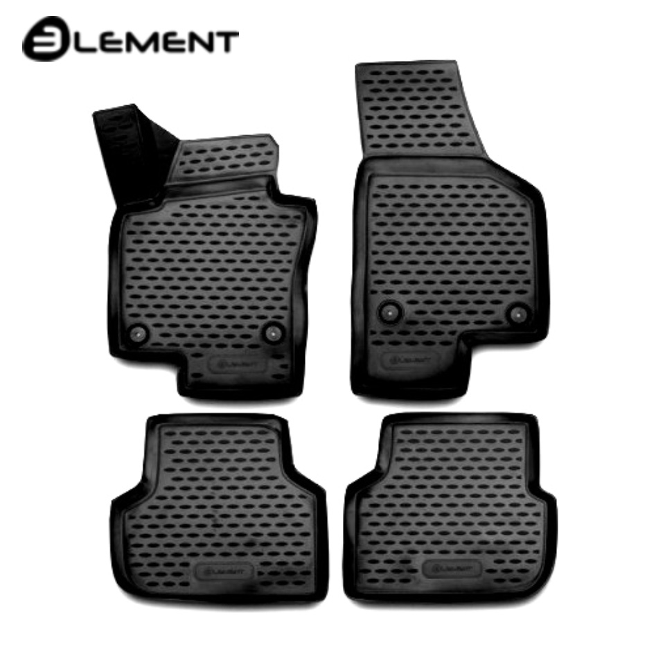 For Volkswagen Jetta 6 2011-2019 3D Floor mats into saloon 4 pcs/set Element NLC3D5135210KH creative removable 3d beach toilet floor sticker
