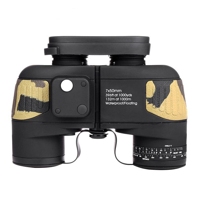 Boshile Jumelles 10x50 Professionnel Marine Jumelles Étanche Boussole Numérique Chasse Télescope Haute puissance Lll nuit vision