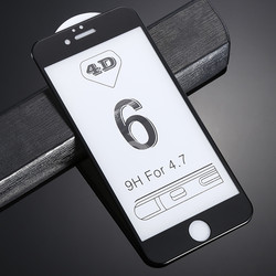 HD 4D 곡선 실크 스크린 풀 커버 강화 유리 6 6 초 플러스 7 7 플러스 전화 보호 강화 유리 필름