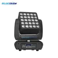 2pcs/lot, LED Matrix Light 25x12W Moving Head Beam Cree RGBW 5x5 panel led matrix light dj stage lighting background
