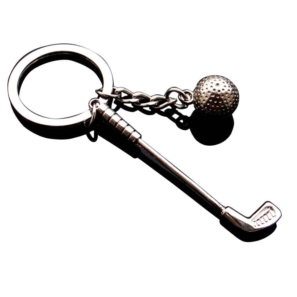 Fashion Golf Chain Pendant Car Keychain Bag Wallet Decoration Key Ring Gifts