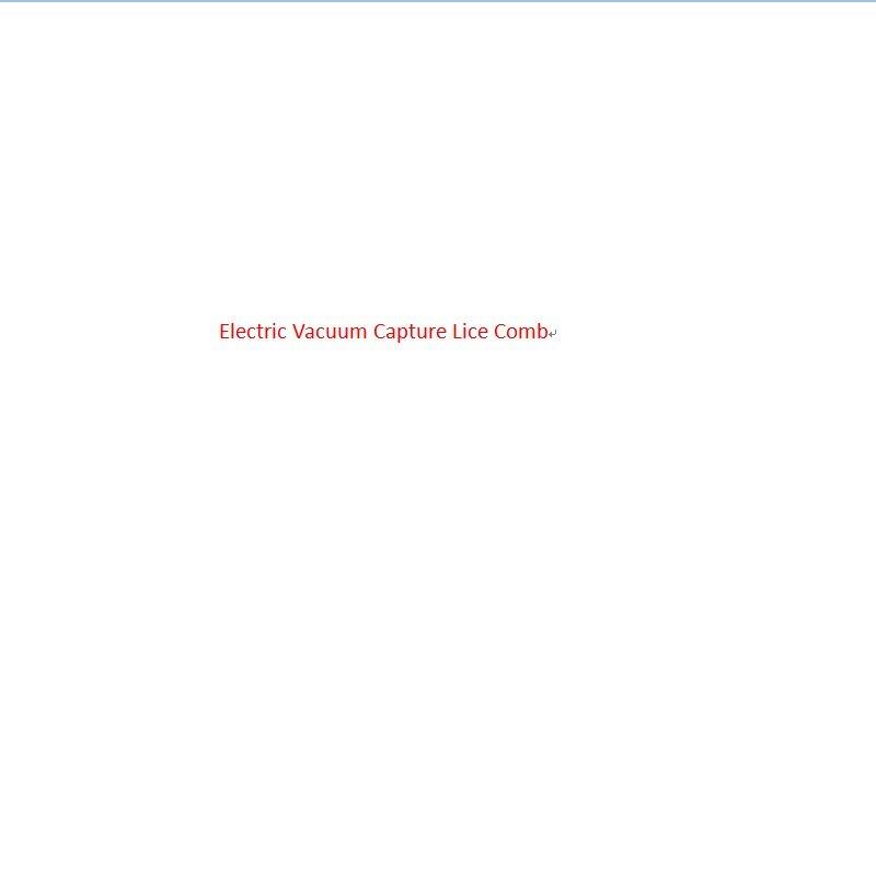 Praktische Gesundheit Kopf Vakuum Läuse Kamm Elektrische Erfassen Pet Filter Läuse Behandlung Europäischen Vorschriften Hohe Qualität Durable