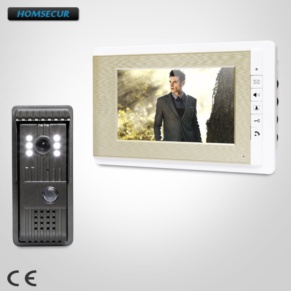 HOMSECUR 7 Video Door Entry Call System with Mute Mode for Home Security for House/ Flat  XC003+XM708-GHOMSECUR 7 Video Door Entry Call System with Mute Mode for Home Security for House/ Flat  XC003+XM708-G