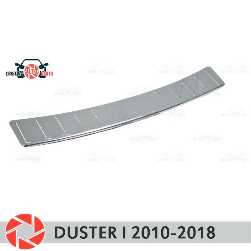 Piastra di copertura posteriore del respingente per Renault Duster I 2010-2018 piastra di protezione guardia accessori della decorazione stile auto stampaggio