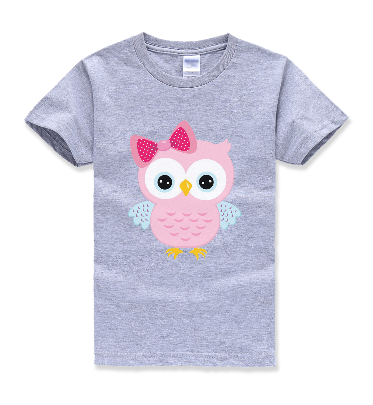 Bird Printing Kids Short Sleeve T Shirts Streetwear Homme