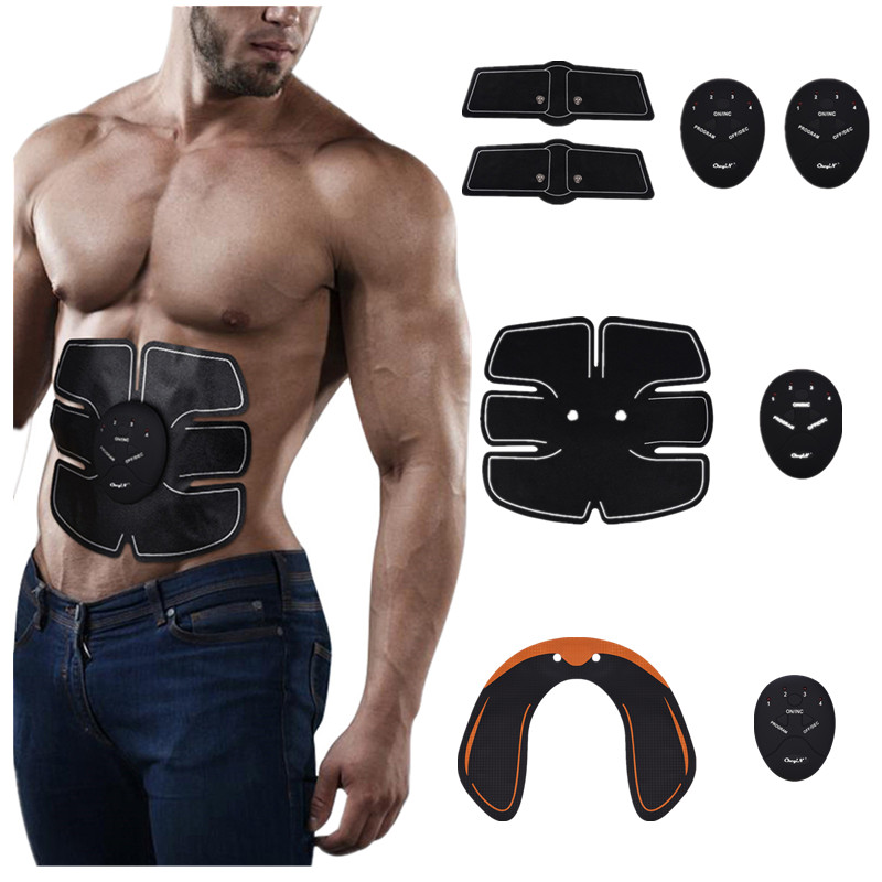Smart Abdominal Training Pad Wireless EMS Muscle Stimulator Arm Muscle Toner ABS Hip Trainer Body Slimming Belt Gel Pads Unisex ems hips trainer