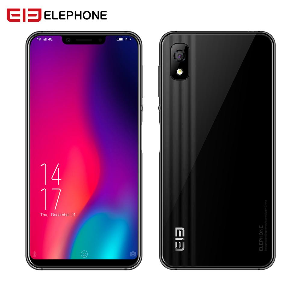 Elephone A4 Pro Smartphone 4 GB RAM 64 GB ROM 5.85 pouces HD + u-cran écran téléphone portable Android 8.1 MT6763 Octa Core 16MP 4G LTE