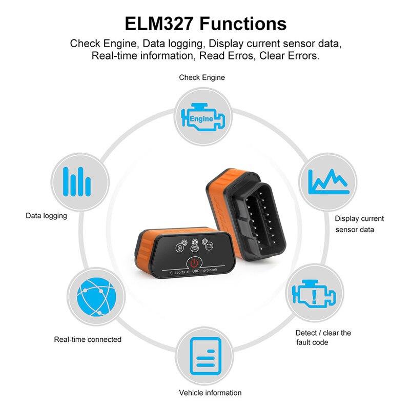 UTB8J.0HD5aMiuJk43PTq6ySmXXae Ancel icar2 OBD2 ELM327 V1.5 Android Bluetooth Adapter Automotive Scanner Car Diagnostic Tool Car Error Code Reader ODB2 ELM327