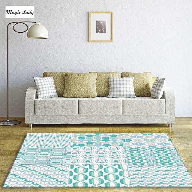 Alfombras turquesa sal n dormitorio mosaico geom trico for Alfombra azul turquesa del dormitorio