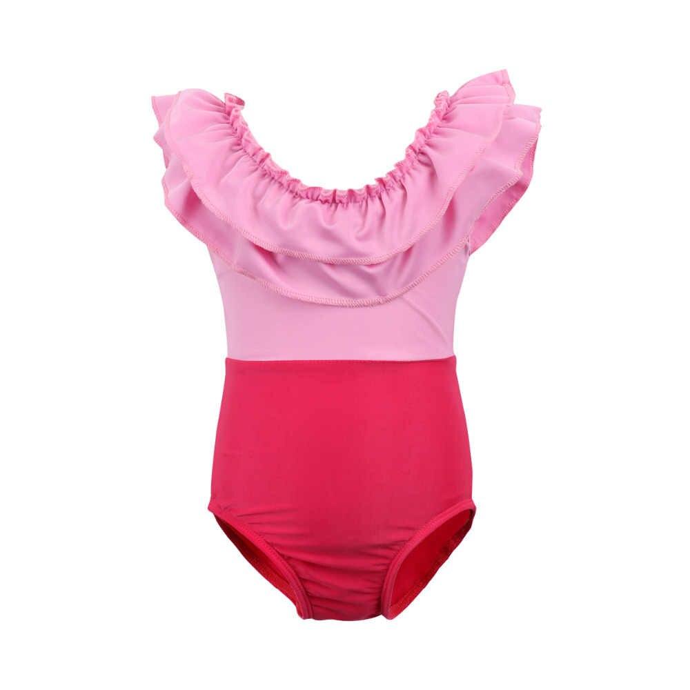 Aile maç mayo anne kızı kapalı omuz yüksek bel Bikini seti mayo kadın kız mayo Biquini Monokini