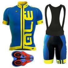 2018 ALE Men's Summer Cycling Jersey and Cycling Bib Shorts Pro Padded Cycling Clothing Ropa Ciclismo Cycling Wear Ciclismo MTB
