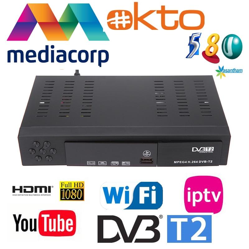 Free Gift + Fast Shipping To Singapore Singapore Mediacorp Terrestrial Digital Tv Receiver DVB-T2 Dvb T2 Set Top Box Watch HD5
