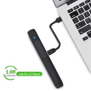 Image 4 - Knorvay N78 şarj edilebilir kırmızı lazer işaretçi USB bellek disk işık kablosuz Presenter PowerPoint Clicker sunum uzaktan