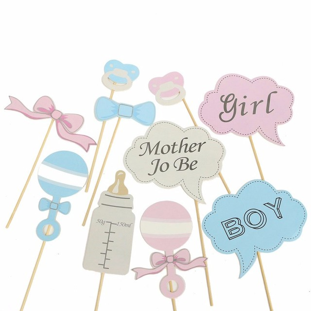 Boy Girl Birthday Enclosed Stick DIY Party Photo Booth Props Bottle Baby  Shower Frame Wedding Decoration