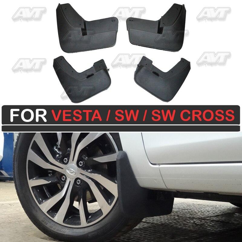 Vesta lamas para Lada/Vesta SW/Vesta Cruz 2015-2019 carro styling acessórios de decoração exterior proteção sujeira