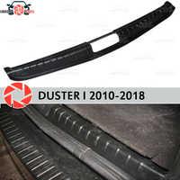 Couvercle sur le coffre du seuil pour Renault Duster 2010-2018 plaque de seuil de coffre garniture intérieure accessoires protection style de voiture