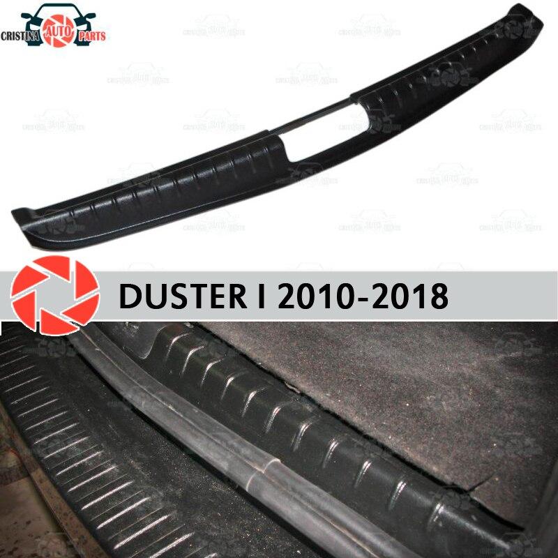 Pokrywa na próg listwa bagażnika dla Renault Duster 2010-2018 bagażnika krok płyta wewnętrzna akcesoria wykończenia ochrona samochodu stylizacji