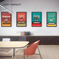 Cosy Moment Motivational Industrial Style Quote Poster Vintage Wall Art Prints Poster Hippie Wall Pictures Canvas Painting ZS031