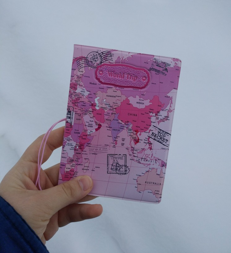 Travel 3D Passport Cover For Girl Student Cartoon Russian Passport Case Business Ticket Card Holder Women Organization Pink photo review