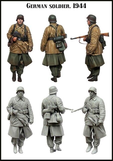 1/35 Resin Figure Model Kit GERMAN soldier.1944