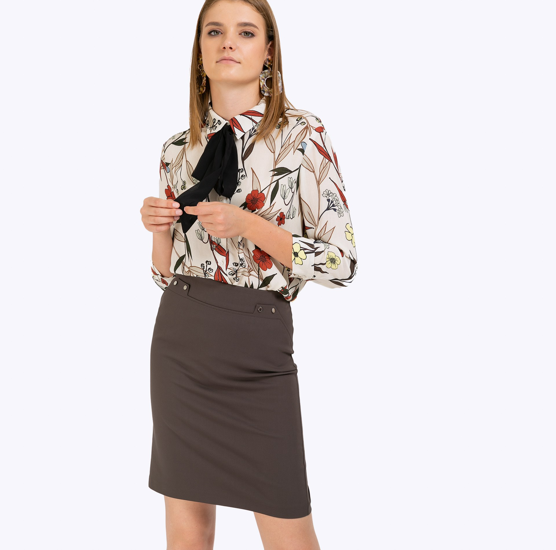 Pencil Skirt plaid pencil skirt