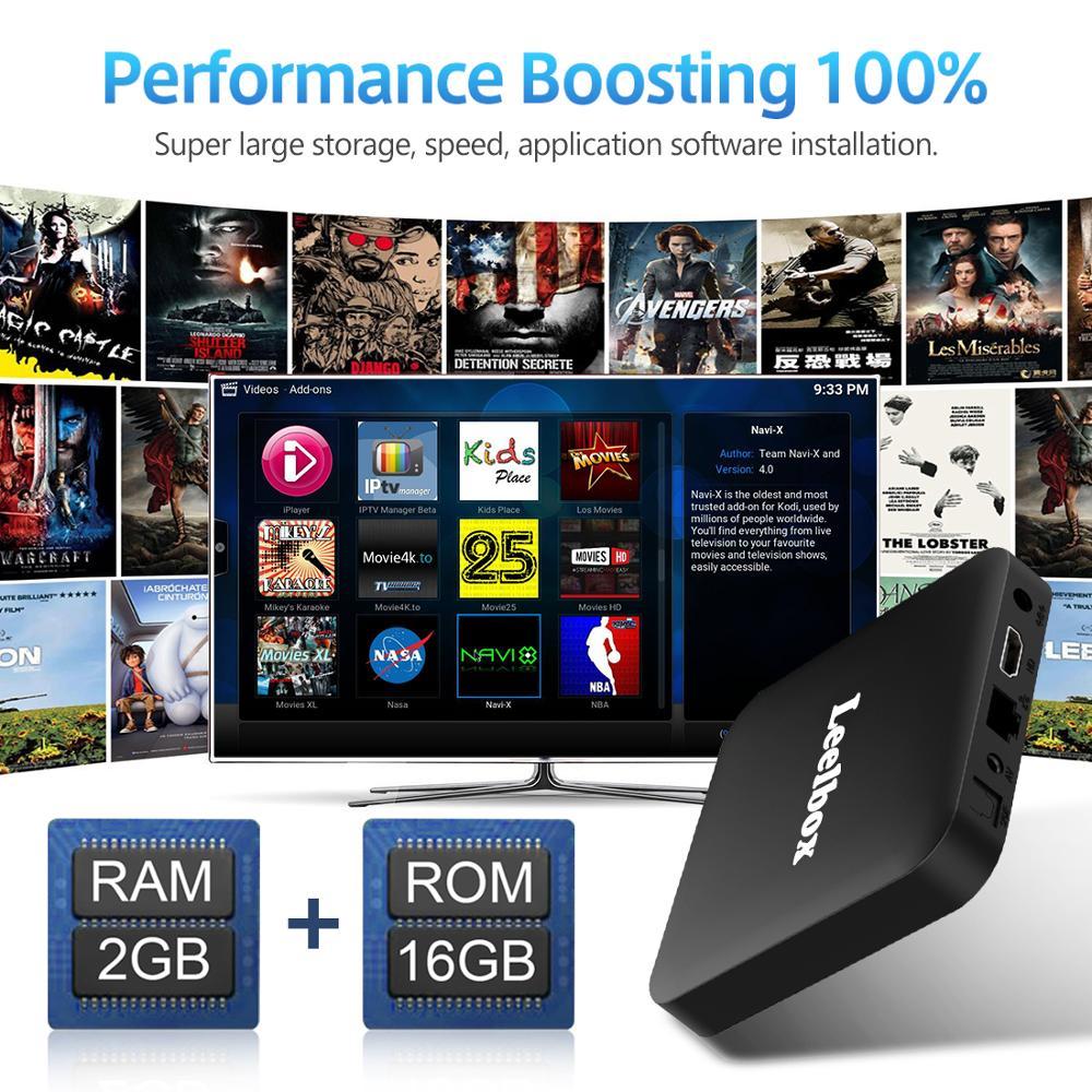 Image 3 - ТВ бокс Android 8,1 Leelbox Smart tv Box с голосовым пультом дистанционного управления, четырехъядерный процессор Amlogic S905W, 2 Гб-in ТВ-приставки и медиаплееры from Бытовая электроника on AliExpress - 11.11_Double 11_Singles' Day