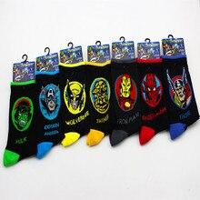 Avengers Infinity War Comics Hero sock Iron man Captain America cartoon socks autumn summer printing Antiskid