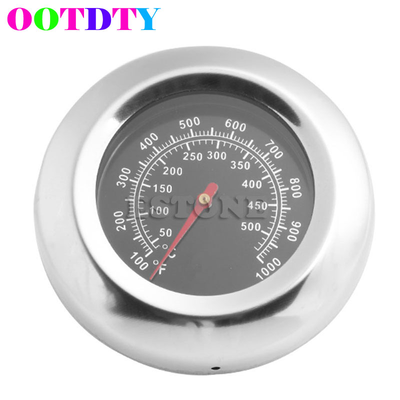 OOTDTY 50-500 <font><b>Degrees</b></font> BBQ Meat <font><b>Thermometer</b></font> Kitchen Oven Grill Temperature Gauge 100~<font><b>1000</b></font> F MY8_10 image