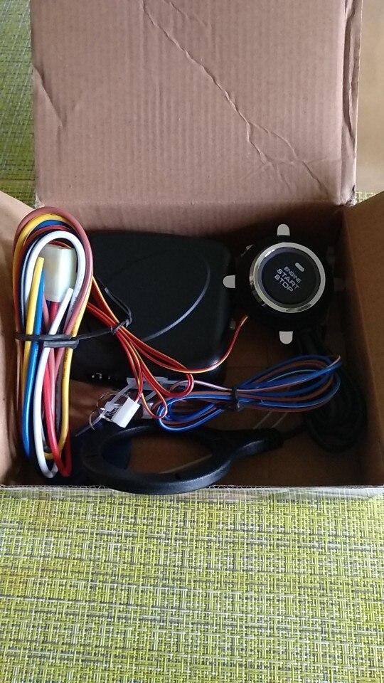 Auto Car Alarm Engine Starline Push Button Start Stop RFID Lock Ignition Switch Keyless Entry System Starter Anti-theft System