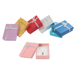 Image 2 - 24pcs Paper Gift Box with White Sponge 7x8x2.5cm Jewelry Display Box for Jewellery Necklace Ring Earring Storage Packing