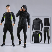 Men Sport Kit Running Sets Shirts Leggings Jackets Basketball Soccer Football Training Pants Fitness Tights Shorts Suits Clothes