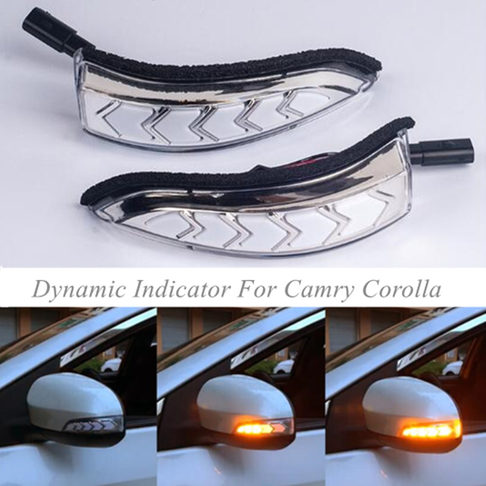 For Toyota Camry Corolla Prius C Venza Scion iM Avalon LED Dynamic Turn Signal Blinker Sequential Side Mirror Indicator LightFor Toyota Camry Corolla Prius C Venza Scion iM Avalon LED Dynamic Turn Signal Blinker Sequential Side Mirror Indicator Light