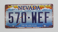 1 pc Nevada The Silver state tin sign plate US American car license plaques man cave garage