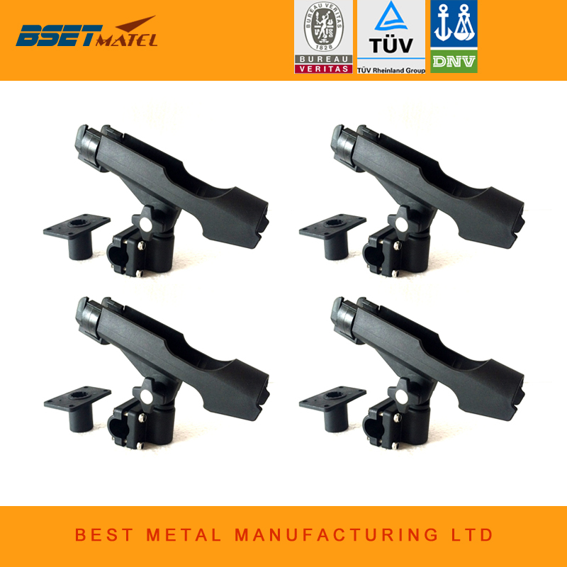 BSET MATEL <font><b>4</b></font> Pieces Rest Adjustable Removable 360 degree Fishing Kayak Boat <font><b>Rod</b></font> Holder Support Tools Accessories Pole Bracket