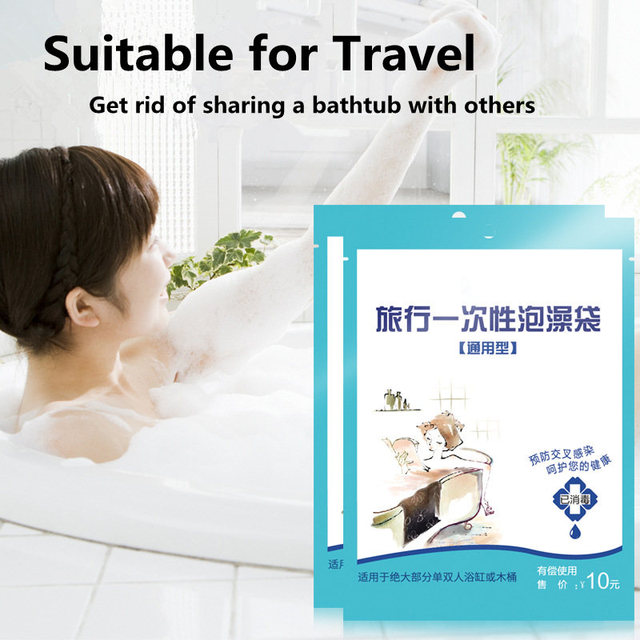 Disposable Travel Bath Plastic Bag Large Size Thicker Baby ...