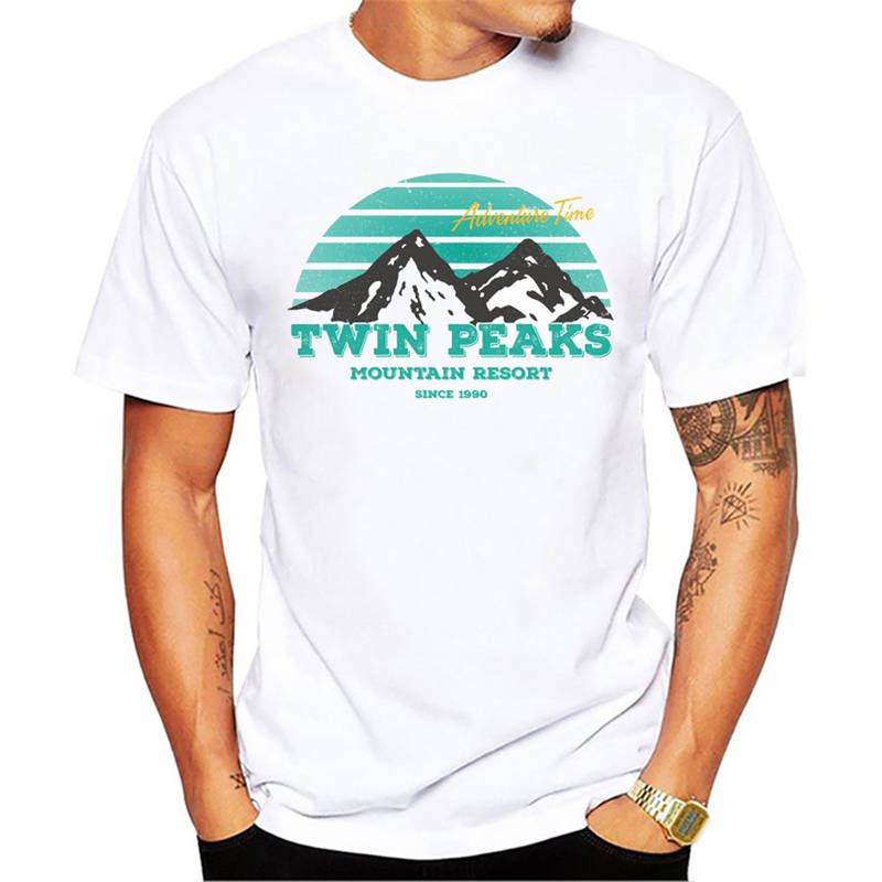 T Shirt Casual Clothing MenS Novelty Crew Neck Short-Sleeve Newest Twin Peaks Tees