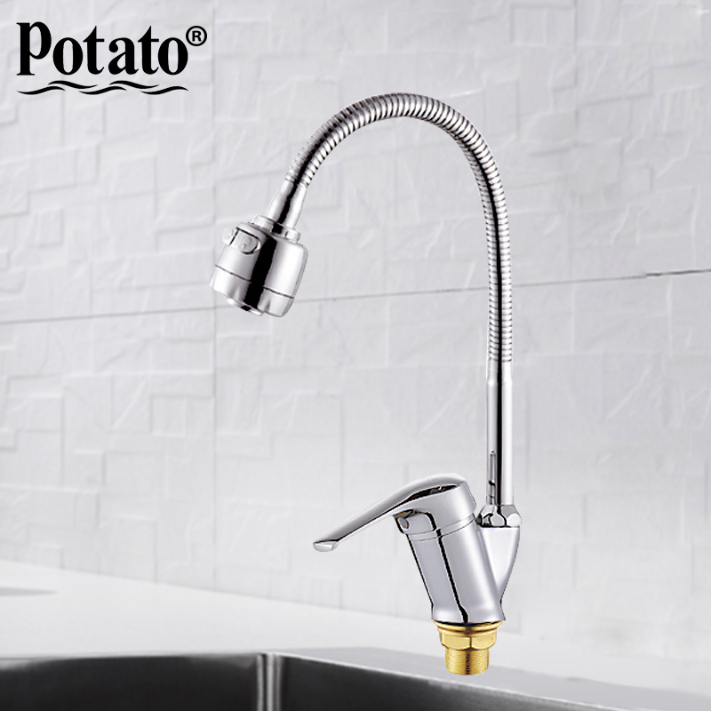 Potato New Kitchen Mixer Cold and Hot flexible Kitchen Tap Single lever Hole Water Tap Kitchen Faucet Torneira Cozinha p5813Potato New Kitchen Mixer Cold and Hot flexible Kitchen Tap Single lever Hole Water Tap Kitchen Faucet Torneira Cozinha p5813